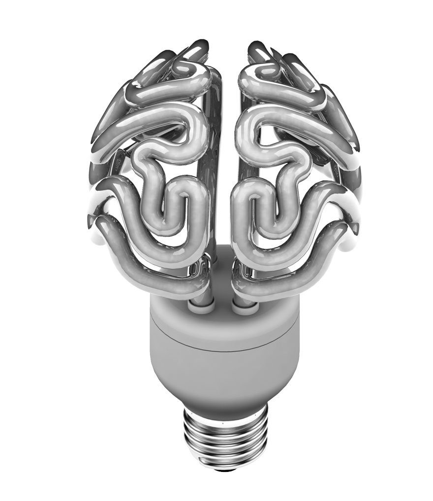 Brain Light Bulb Creative light