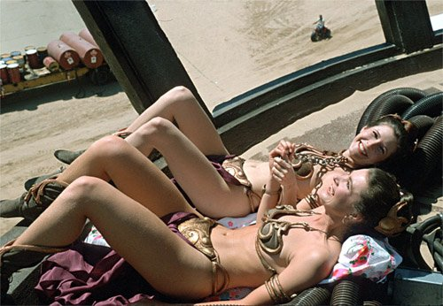 Carrie Fisher & Stuntwoman Tracey Eddon Celebrities Stunts