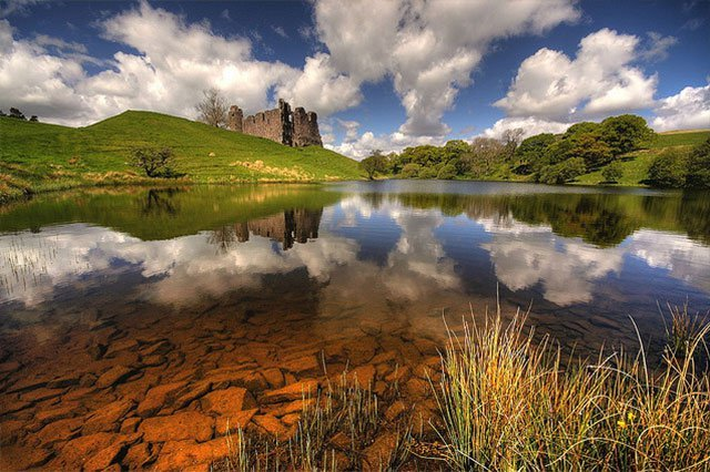 Castle Water Reflection