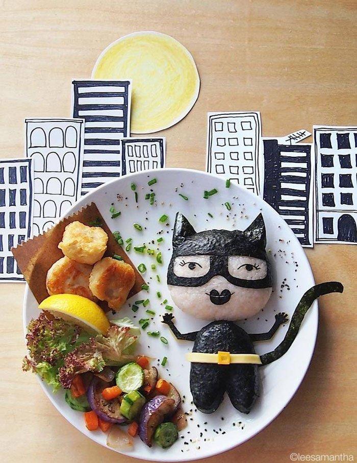 Cat Woman Food Artists