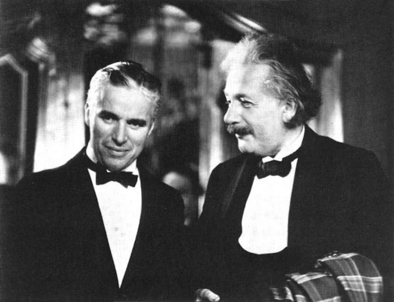Chaplin and Einstein Rare Photo