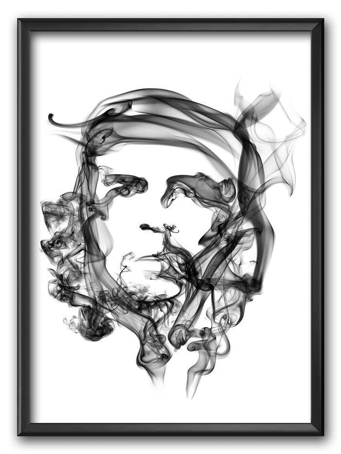Che Guevara Smoke Poster