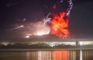 Unbelievable Photos From Both The Chilean Volcano Eruption