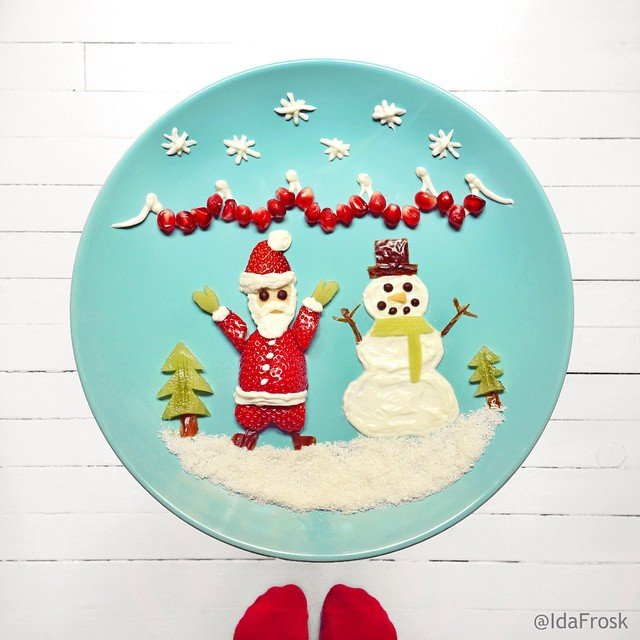 Christmas tribute Food Art