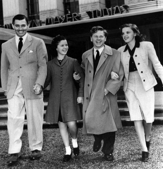 Clark Gable, Shirley Temple, Mickey Rooney, Judy Garland Rare Photo