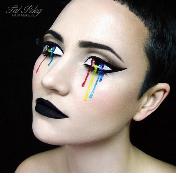 Colorful Tears from the attractive eyes Eye Makeup