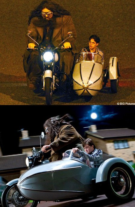 Daniel Radcliffe, Robbie Coltrane & Stunt Doubles Celebrities Stunts