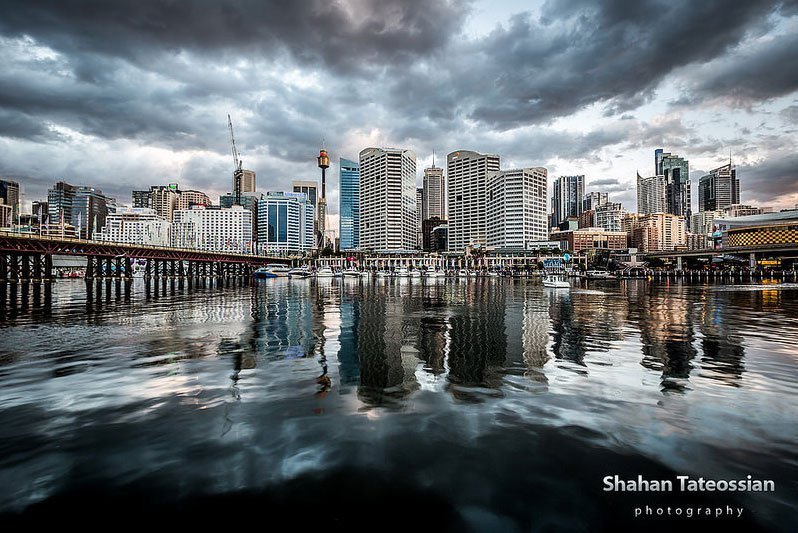 Darling Harbour Water Reflection