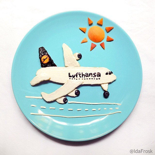 Delicious plane design Food Art