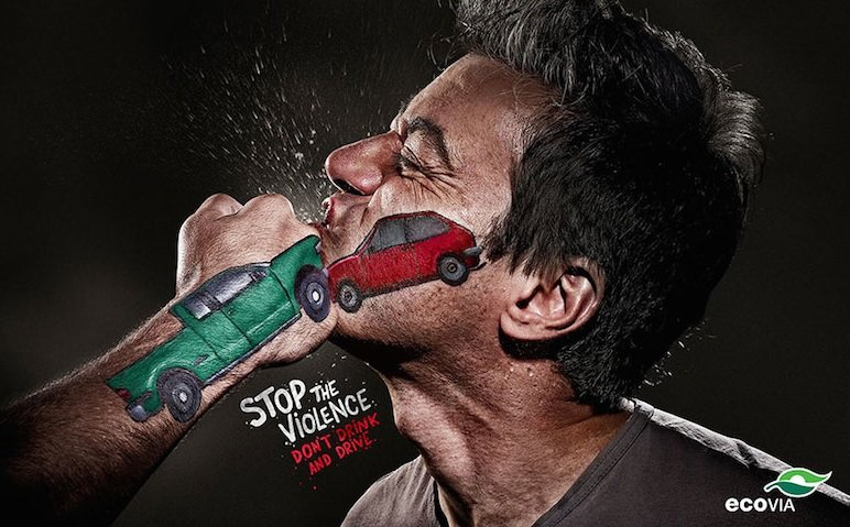 Don't Drink and Drive, Stop the VIOLENCE Activism Ads