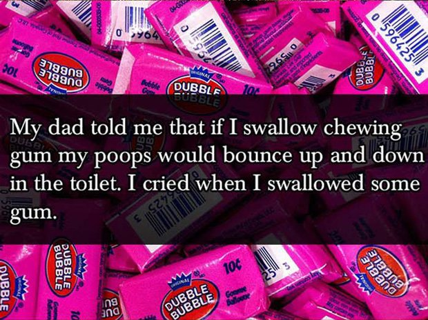 Effect of Swallowing Chewing Gum Parent Lies