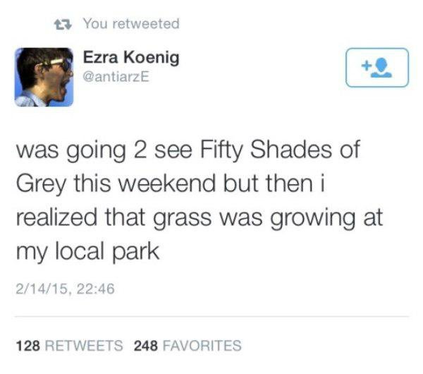 Fifty Shades of Grey Funny Tweets