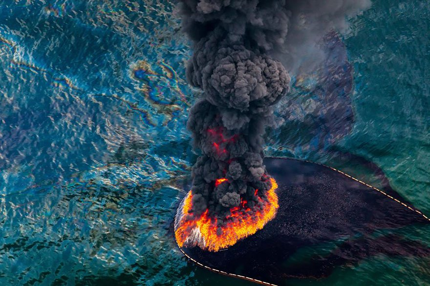 Fire at oil platform (Gulf of Mexico, April 2010) Overpopulation