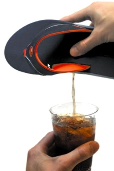 Flip Flop Beer Holder Cool Invention