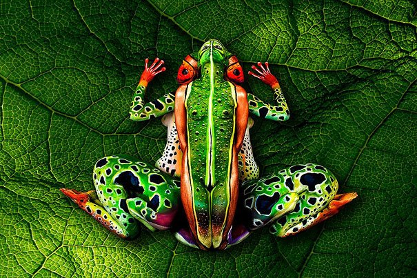 Frog Body Painting
