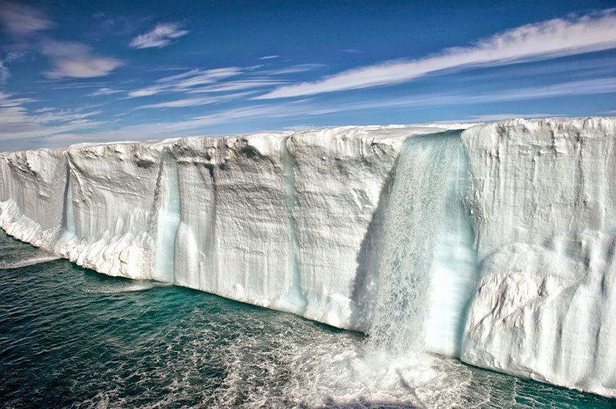 Gigantic Iceberg losing against human act and melting (Svalbard Island - Norway) Overpopulation