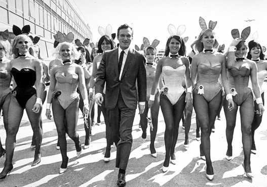 Hugh Hefner and some bunnies Rare Photo