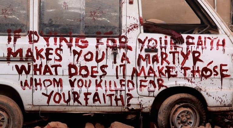 If dying for your faith makes you a martyr........ Activism Ads