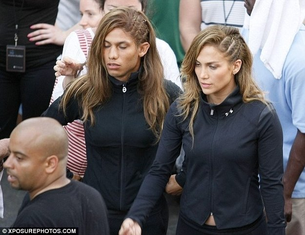 Jennifer Lopez & Stuntman Celebrities Stunts