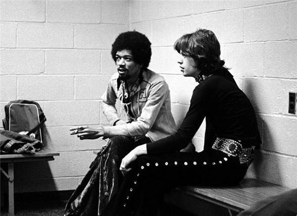 Jimmy Hendrix And Mick Jagger Rare Photos