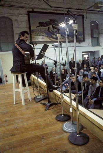 Johnny cash at San Quentin Rare Photos