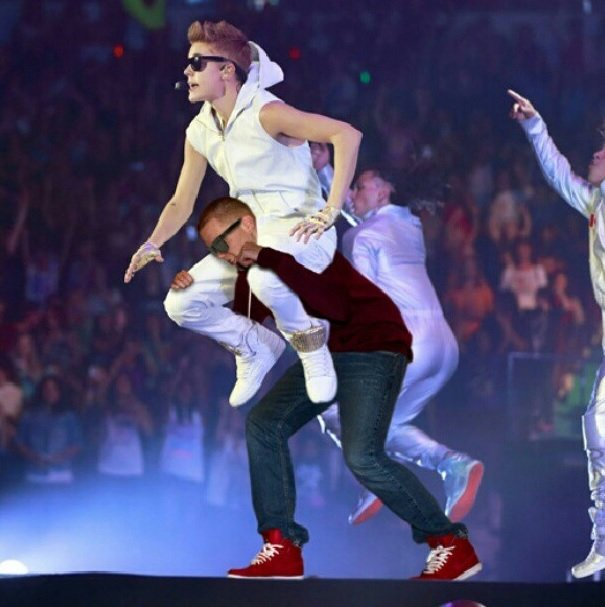 Just got done performing with @justinbieber at the #sprintcenter in #KC Funny Photoshop