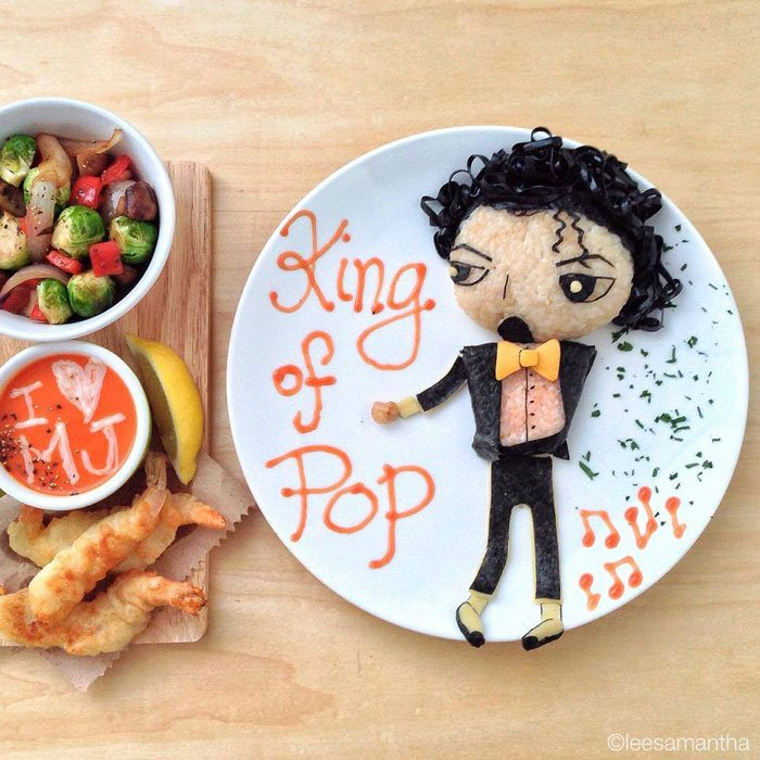King of pop - Micheal Jackson Food Artists