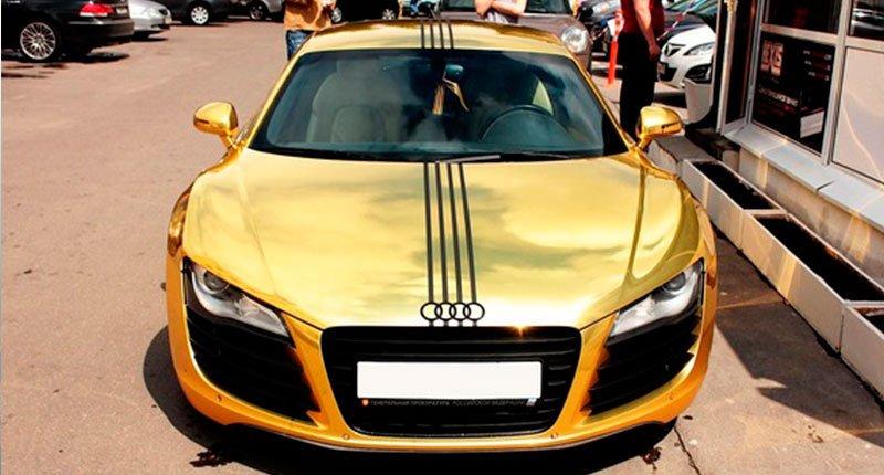 Lovely Audi parked on the street Crazy Dubai