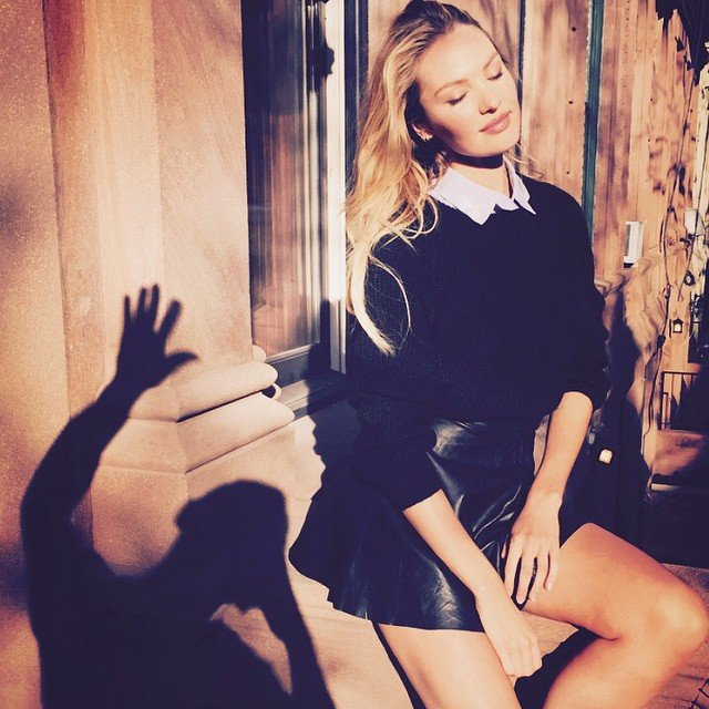 Lucky Shadow Guy!! Candice Swanepoel