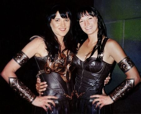 Lucy Lawless & Zoe Bell Celebrities Stunts