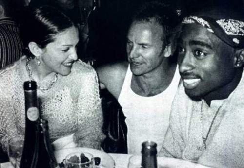 Madonna, sting and Tupac Rare Photos