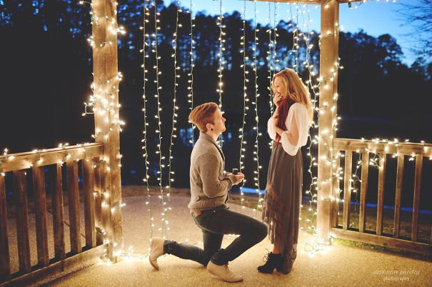 Magical environment Wedding Proposal