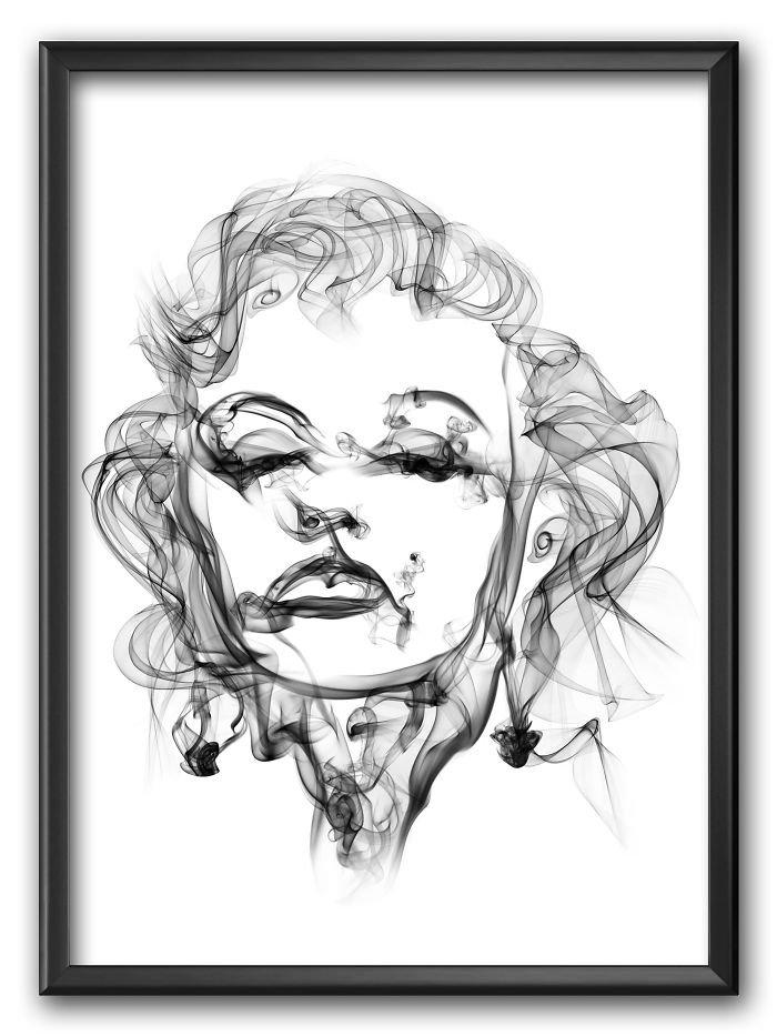 Marilyn Monroe Smoke Posters