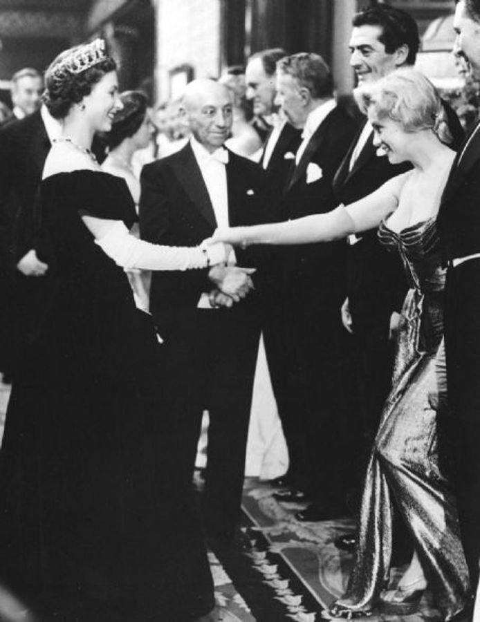 Marilyn Monroe meeting the Queen Rare Photos