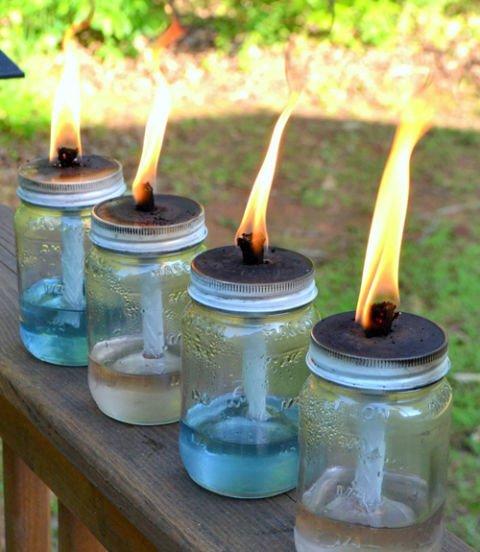 Mason jars torch