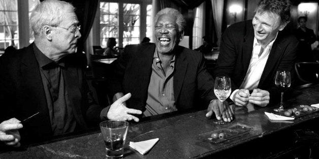 Michael Cane, Morgan Freeman, Liam Neeson Rare Photos