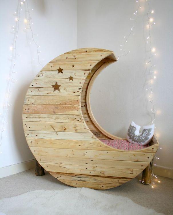 Moon Shaped Baby Crib Beautiful Galaxy