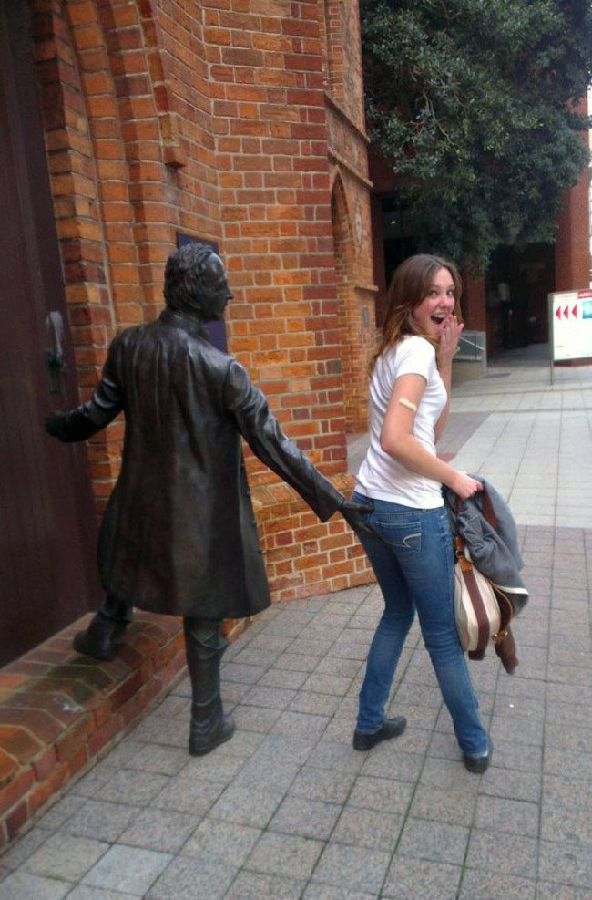 Naughty Man Funny Sculptures