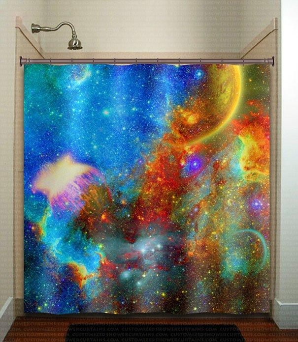 Nebula Galactic Shower Curtain Beautiful Galaxy