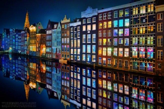 Night of Amsterdam Popular photograph