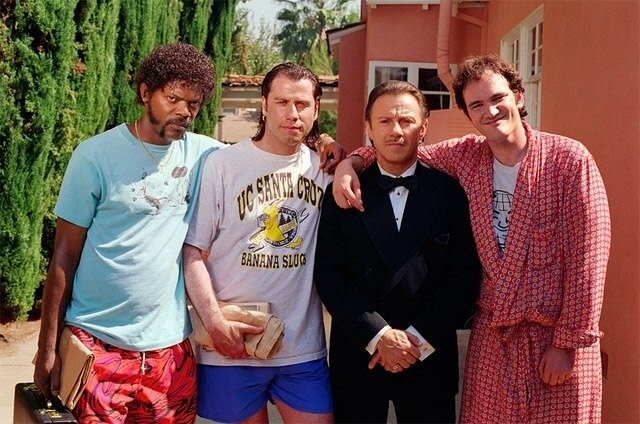 On the set of Pulp fiction Rare Photos