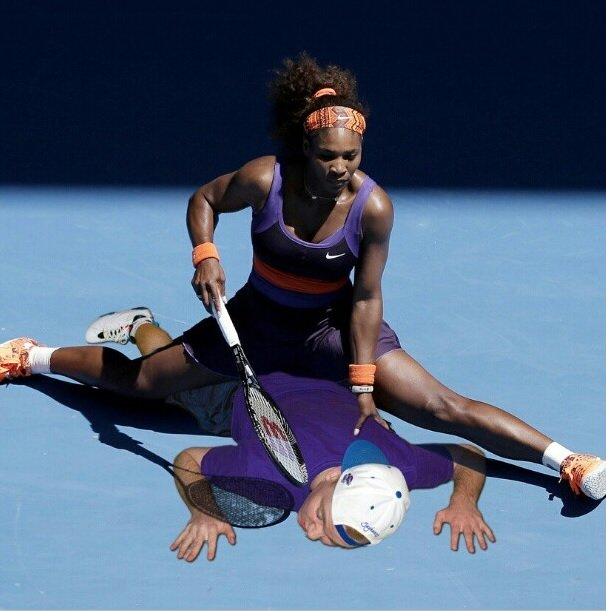 Ouuuchh, Serena Williams! Funny Photoshop