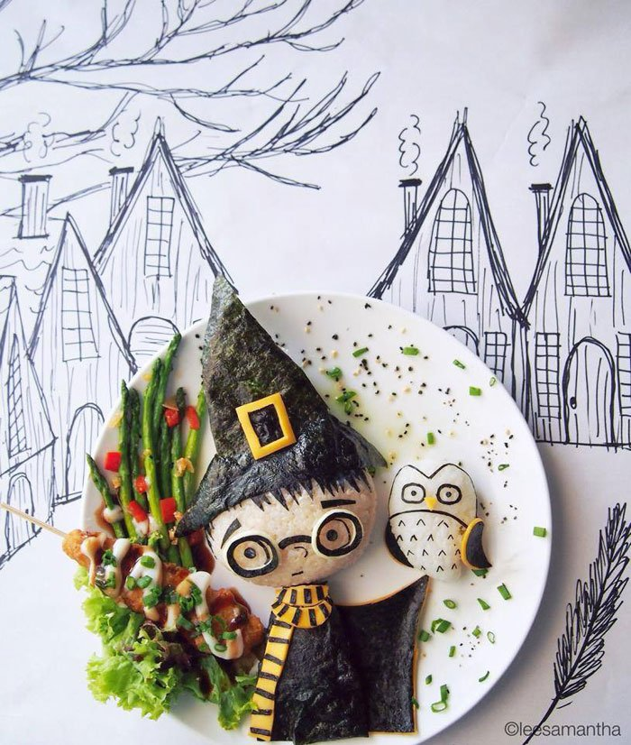 Owl saying, Please don't eat me Food Artists