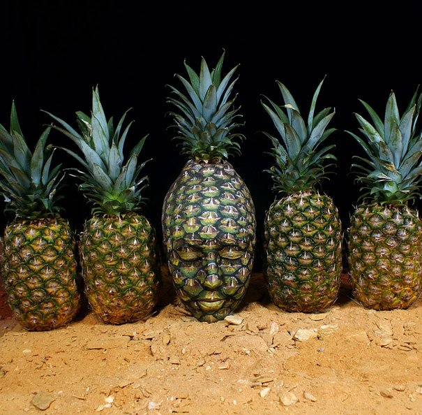 Pineapple face painting Body Painting
