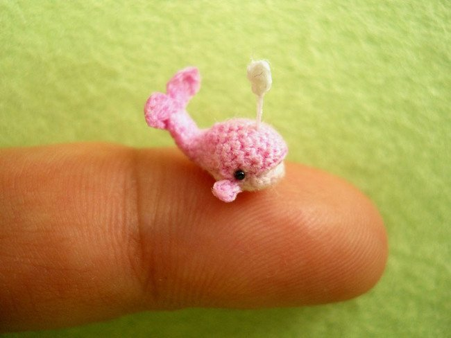 Pink Whale Tiny Crochet