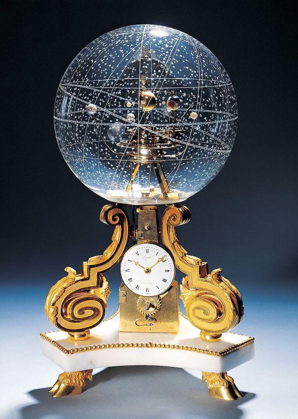 Planetarium Clock Beautiful Galaxy