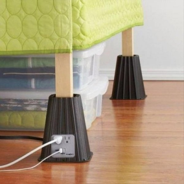 Plug Sockets on Bed Legs Cool Inventions