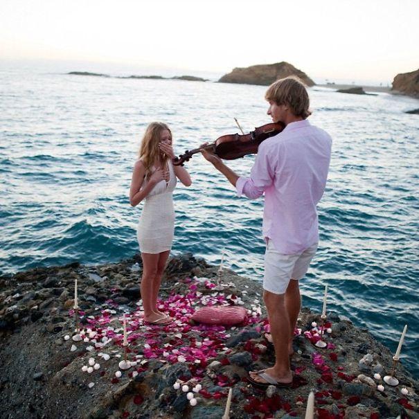 Romantic Violin Proposal Wedding Proposal