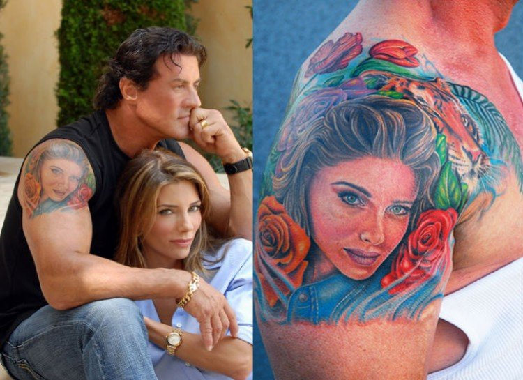 SYLVESTER STALLONE worst celebrity tattoos