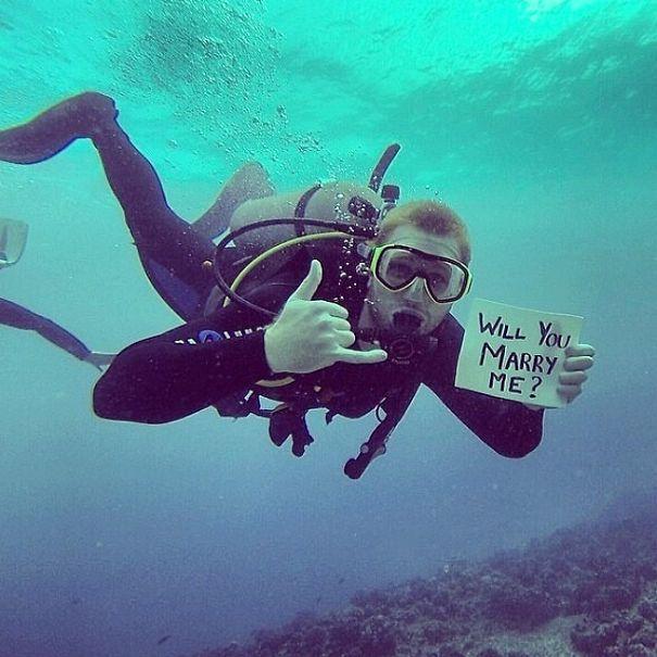 Scuba Diving Proposal Wedding Proposal